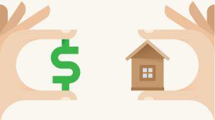 imagem de casa e dinheiro