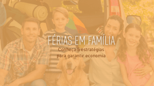 imagem de uma familia de ferias
