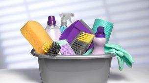 produtos de limpeza indispensáveis