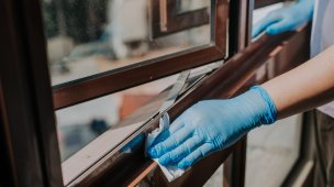 Limpeza de janelas em apartamentos